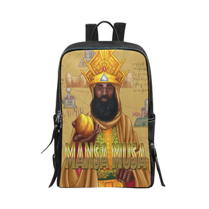 Mansa Musa Unisex Slim Backpack (Model 1664) - UrbanToons Inc.