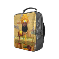 Mansa Musa Vegan Leather Square Backpack (Model 1618) - UrbanToons Inc.