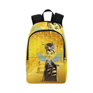 Urbantoons Queen Bee Adult Fabric Backpack for Adult (Model 1659) - UrbanToons Inc.