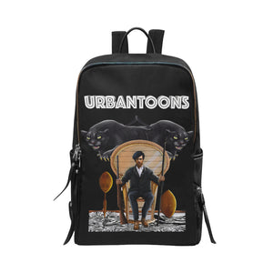 Huey P Newton Slim Bookbag Unisex Slim Backpack (Model 1664) - UrbanToons Inc.