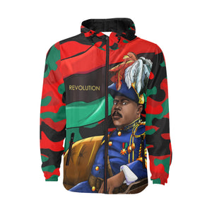 Marcus Garvey Army Red Camo Windbreaker for Men - UrbanToons Inc.