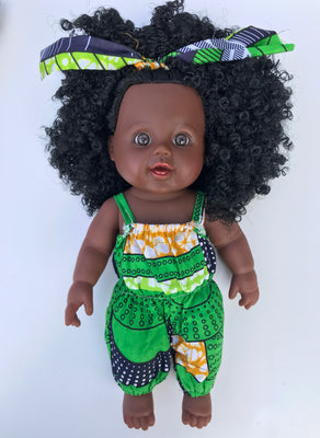 Baby Imani Lime Green Dashiki - UrbanToons Inc.