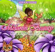Melanin Beauty Coloring Book NEW ARRIVAL - UrbanToons Inc.