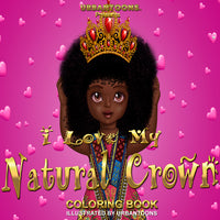 Urbantoons I Love My Natural Crown Coloring Book Bulk / Wholesale 25 units - UrbanToons Inc.