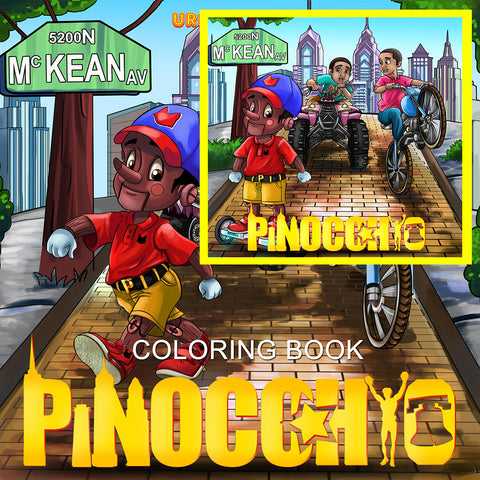 Urbantoons Pinocchio (BOOK AND COLORING BOOK)