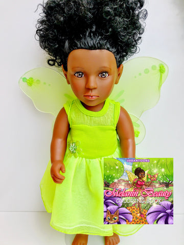 Shakura Fairytale Lime and Melanin Beauty Coloring Book New Arrival