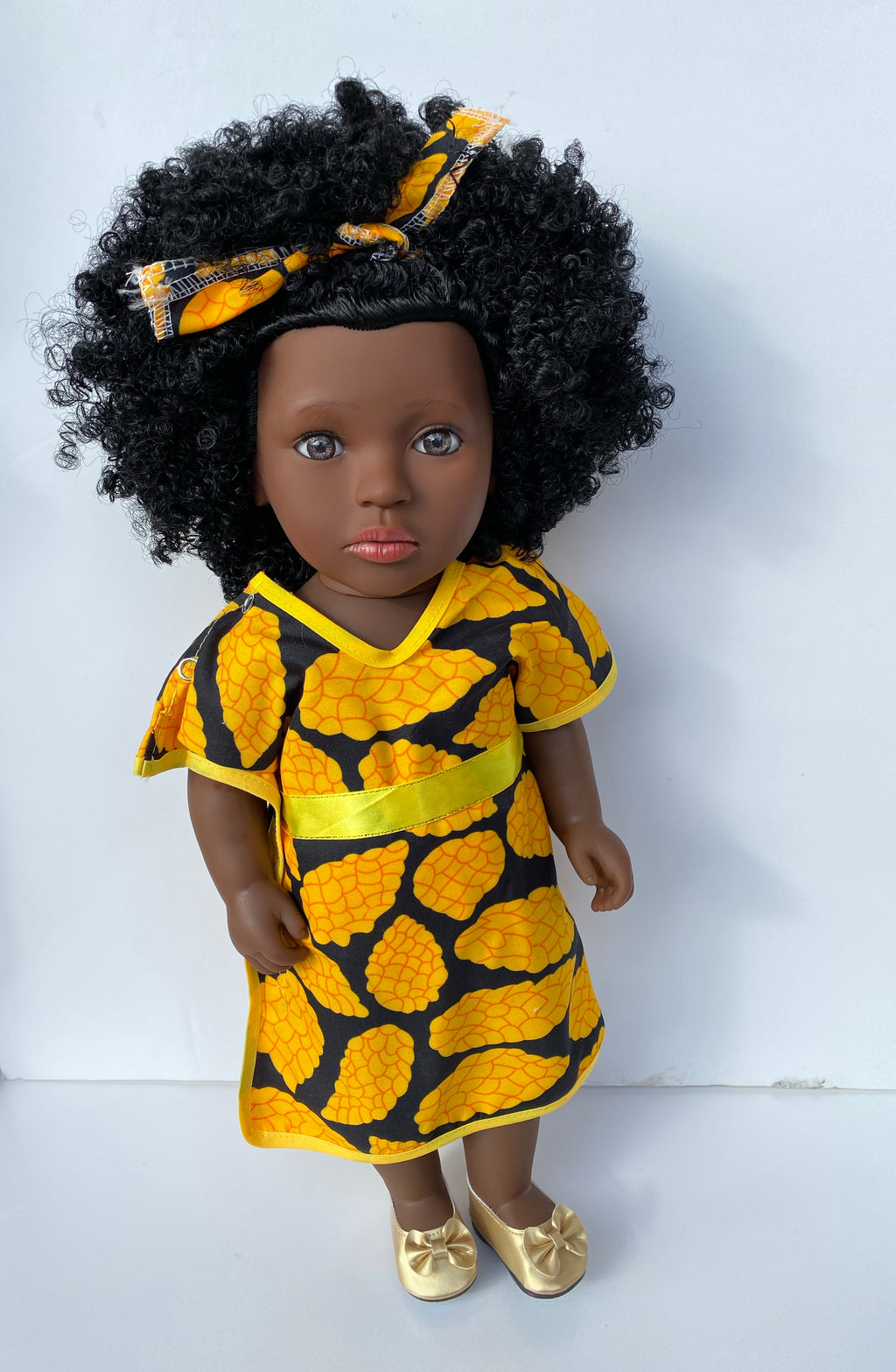 Shakura African Print Yellow Dress FREE Book (Limited collection) - UrbanToons Inc.