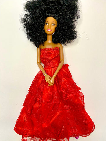 Melanin Woman Jahnia Doll Black Hair (Pre order) - UrbanToons Inc.