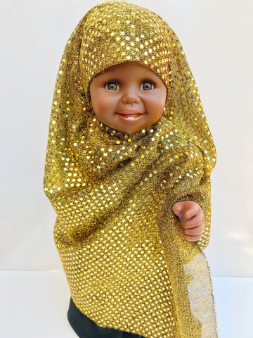 Jahnia's Golden Hijab (AVAILABLE FOR PRE-ORDER)