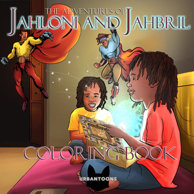 Urbantoons: The Adventures of Jahloni & Jahbril Coloring Book - UrbanToons Inc.