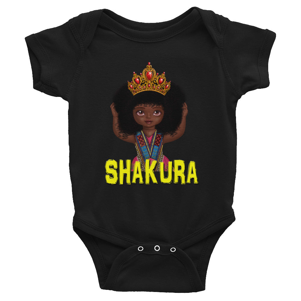 Urbantoons Shakura Crown Infant Bodysuit - UrbanToons Inc.