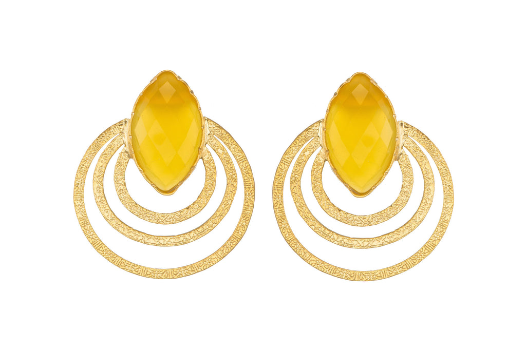 Yellow Onyx Expansion Earrings