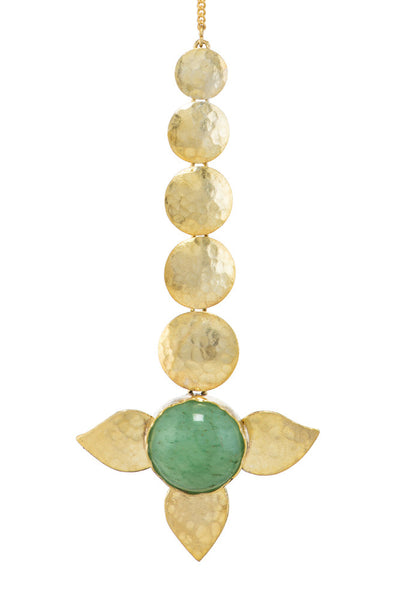 Green Jade Leaf Teeka