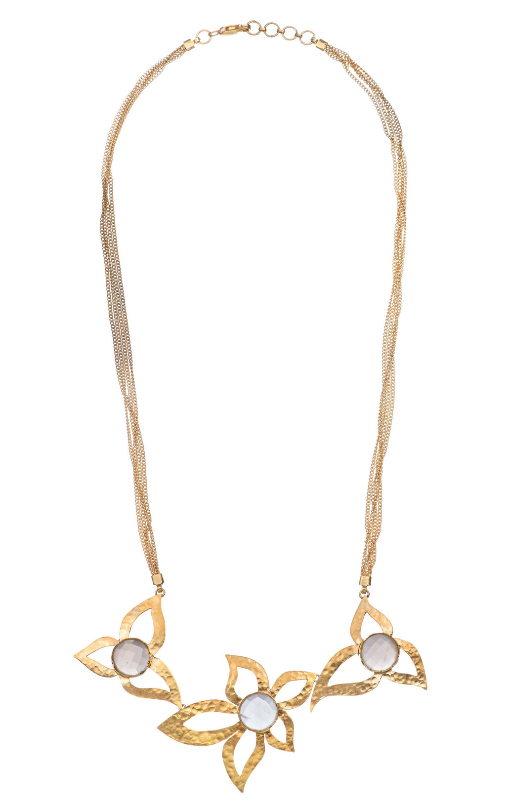 Moonstone Flower Long Necklace