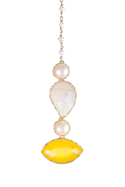 Moonstone and Yellow Onyx Teeka