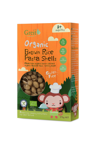 Organic kids brown rice pasta shells