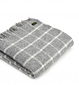Pure New Wool Chequered Check Throw