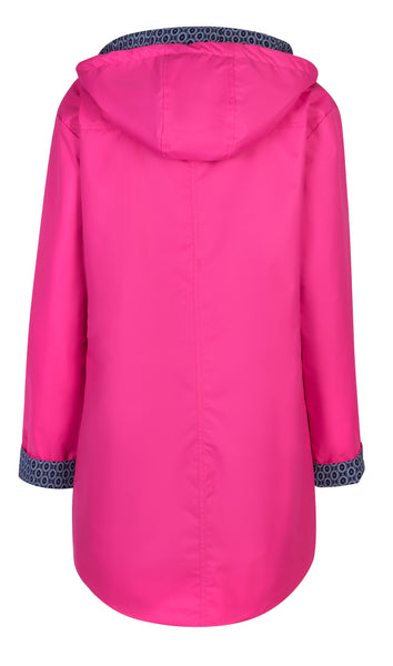 Pink Long Length Raincoat