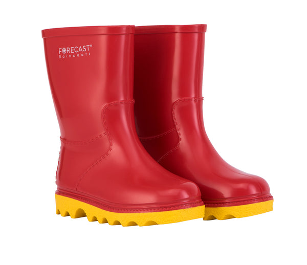 Kiddies Red & Yellow Rain Boot