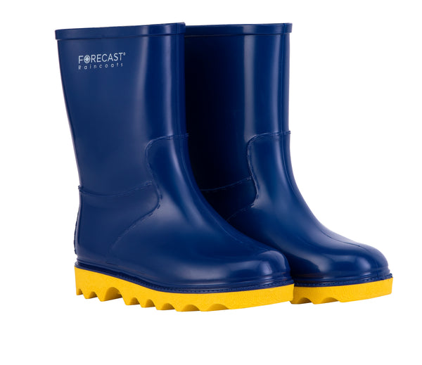 Kiddies Navy & Yellow Rain Boot