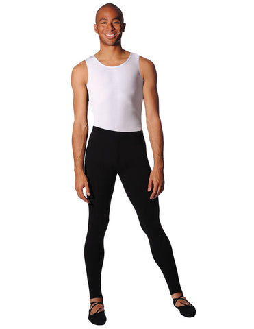 BOYS/MENS WHITE SLEEVELESS LEOTARD