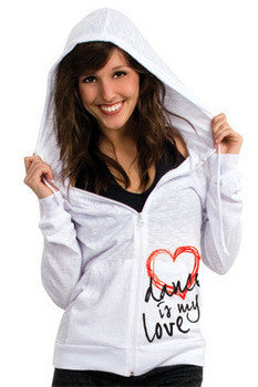 'Dance is my Love' White Zipped Hoodie was £29 now £18