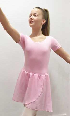 Short Sleeve cotton lycra leotard Girls
