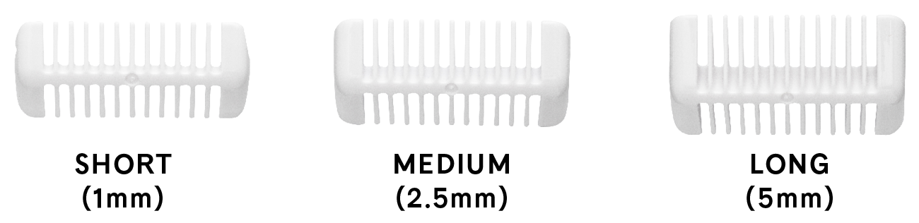 Image of the Trimmer guide lengths.