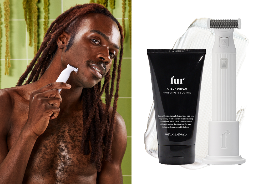 Shave Cream and Fur Trimmer