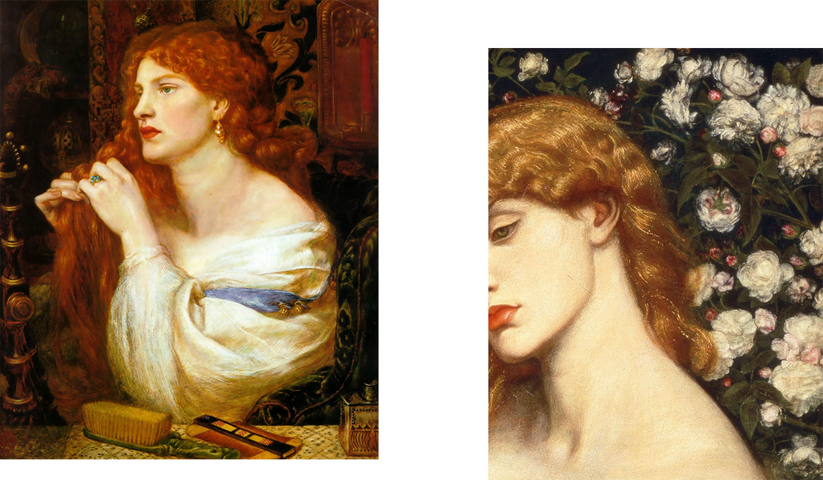 Pre-Raphaelite paintings of women, inspirations for Ella Pavlides
