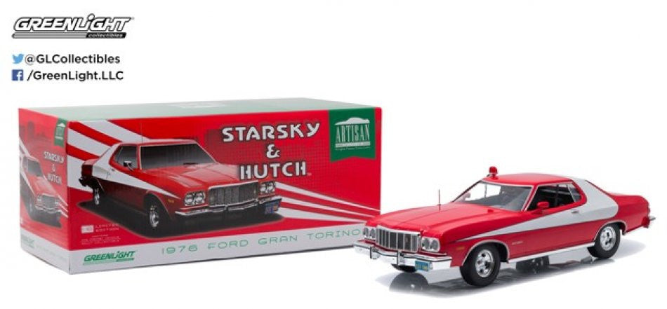 Ford Gran Torino Starsky & Hutch 1976 Greenlight Artisan Collection 1/18