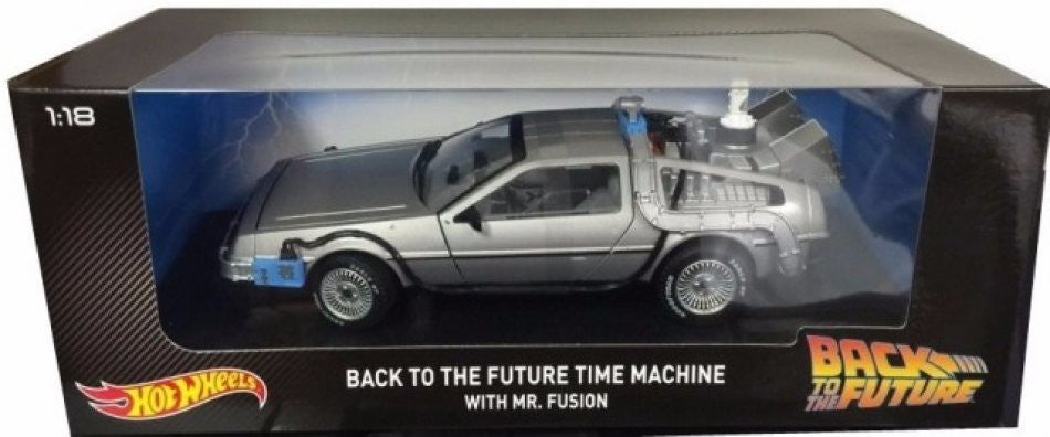 Delorean Back to the Future Hot Wheels 1/18