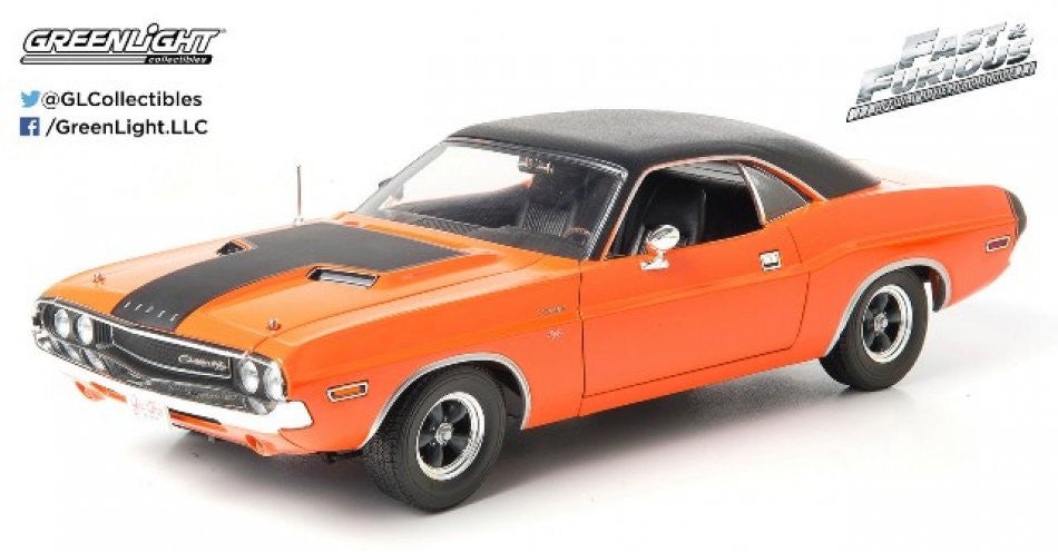 Dodge Challenger R/T Fast & Furious 1970 Greenlight 1/18