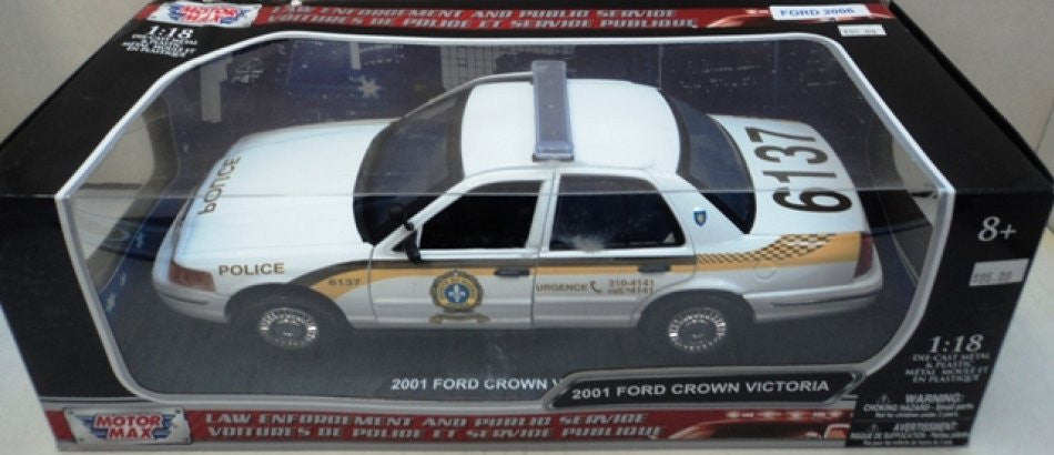 Ford Crown Victoria Police SQ 2001 Motor Max 1/18