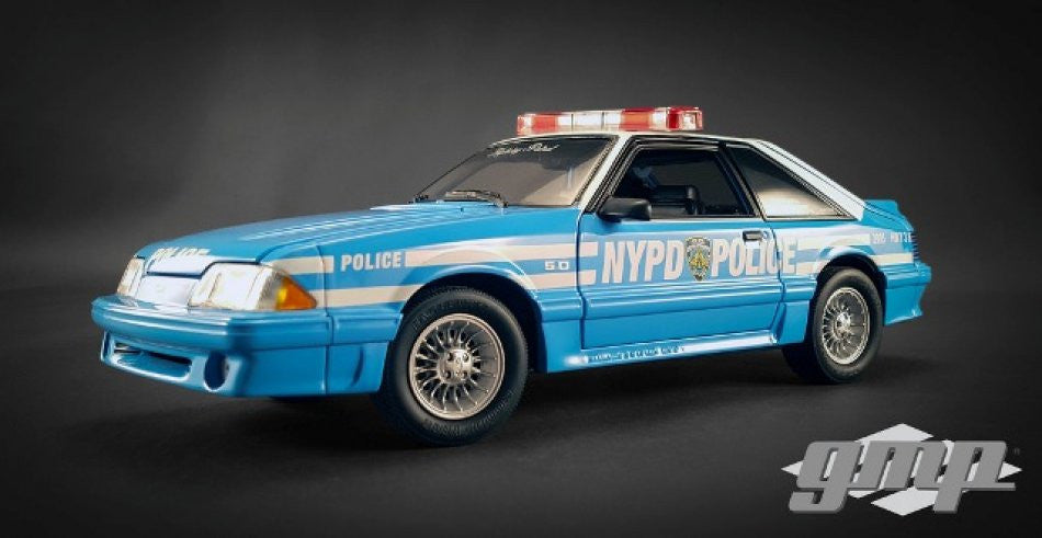 Ford Mustang GT 1988 Police New York GMP 1/18