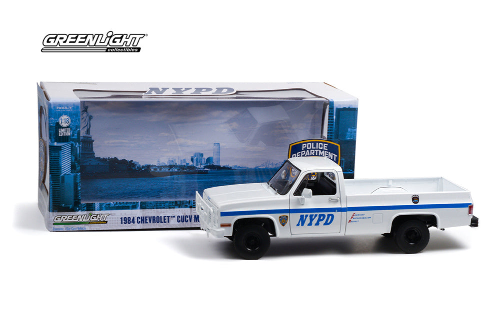 Chevrolet CUVC M1008 Pick Up Police NYPD 1984 Greenlight 1/18