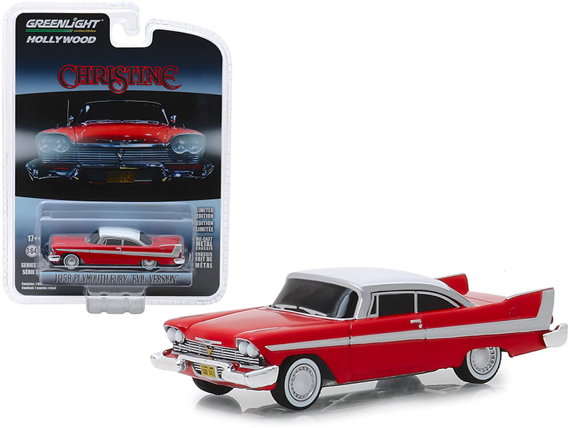 Plymouth Fury Christine ''Evil Version'' 1958 Greenlight Hollywood 1/64