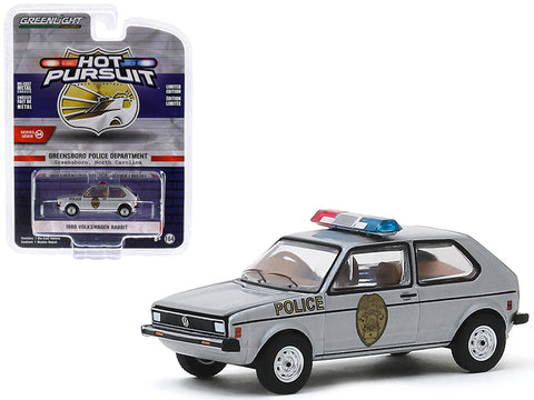 Volkswagen Rabbit 1980 Police Greenlight Hot Pursuit 1/64