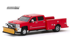 Chevrolet Silverado 3500HD 2018 avec pelle à neige Dually Drivers Greenlight 1/64
