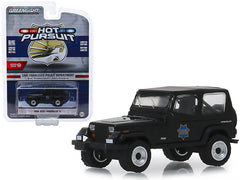 Jeep Wrangler YJ 1994 Police Greenlight Hot Pursuit 1/64
