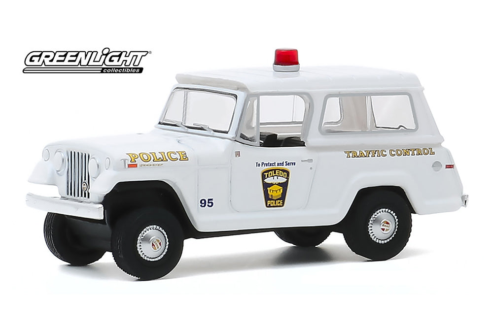 Jeep Jeepster 1969 Police Greenlight Hot Pursuit 1/64
