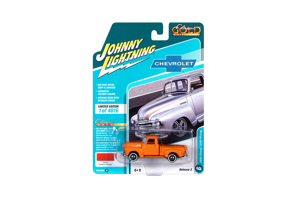 Chevrolet 3100 Pick Up 1950 Johnny Lightning Classic Gold Collection 1/64
