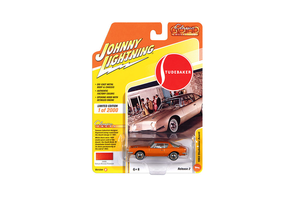 Studebaker Avanti 1963 Johnny Lightning Classic Gold Collection 1/64
