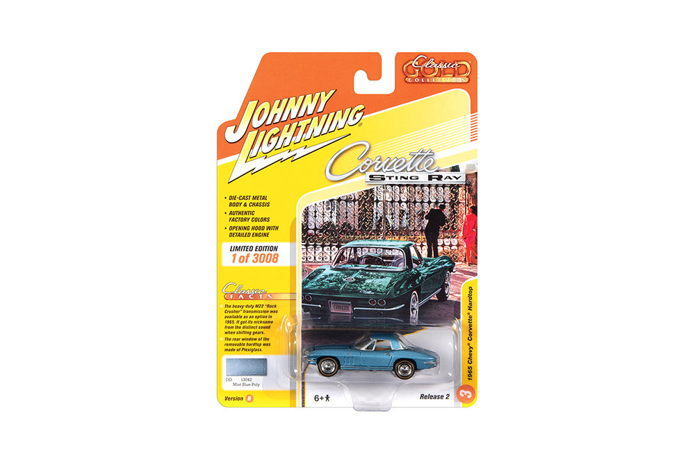 Chevrolet Corvett Hardtop 1965 Johnny Lightning Classic Gold Collection 1/64