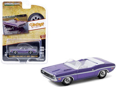 Dodge Challenger R/T Convertible 1970 Greenlight Vintage Ad Cars 1/64