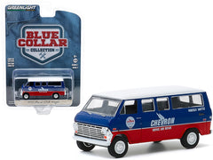 Ford Club Wagon 1970 Greenlight Blue Collar Collection 1/64