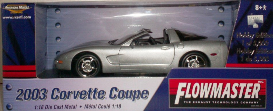 Chevrolet Corvette Coupe 2003 ERTL American Muscle Flowmaster 1/18