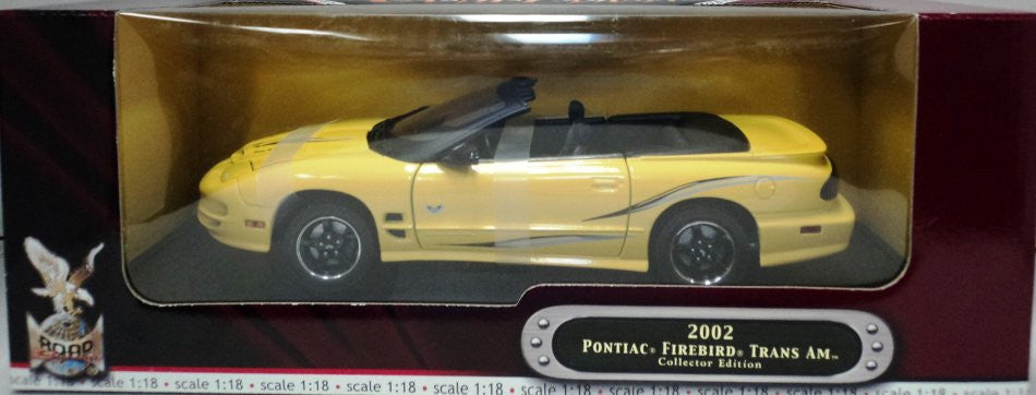 Pontiac Firebird Trans Am 2002 Road Signature Collector Edition 1/18