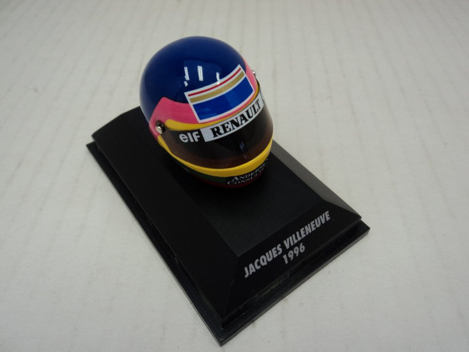 Casque; Jacques Villeneuve 1996 Minichamps 1/8