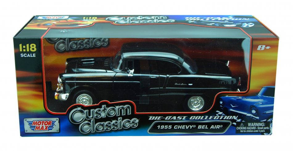 Chevrolet Bel Air 1955 Hot Rod Motor Max Custom Classics 1/18